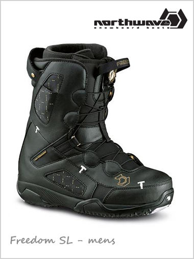 Freedom SL mens snowboard boot - black / gold (now only 29.5)