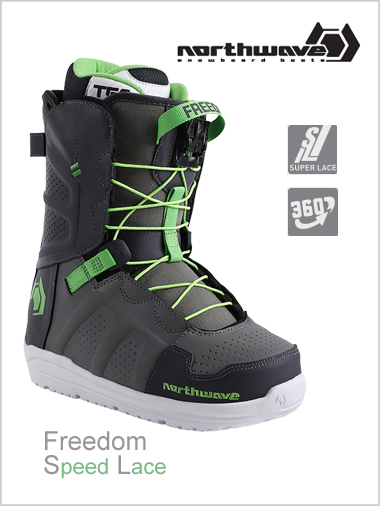 Freedom SL mens snowboard boot - grey / green