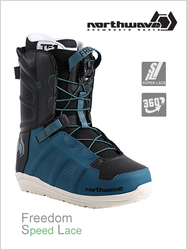 Freedom SL mens snowboard boot - petroleum