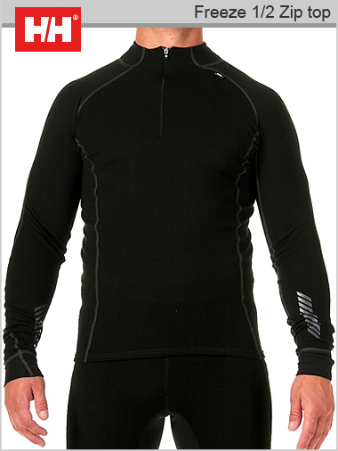 Mens HH Warm Freeze 12 Zip Top Merino Base Layer By Helly