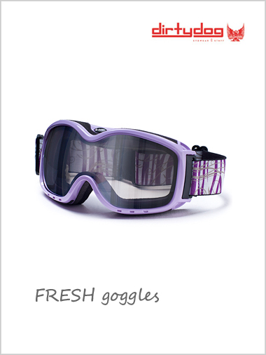 Fresh goggles - pink / purple (smoke flash mirror)
