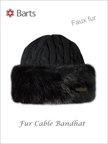 Fur Cable Bandhat - faux fur black