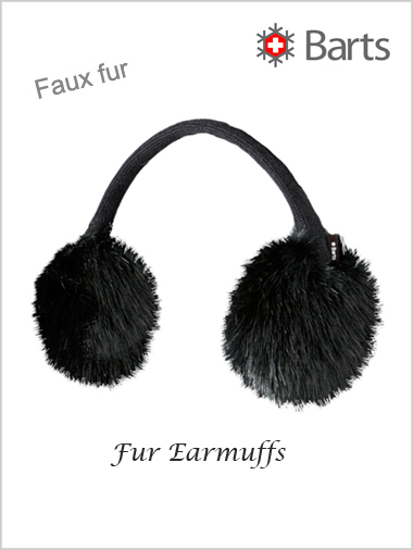 Faux Fur Earmuffs - black