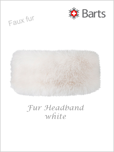 Faux Fur Headband - white