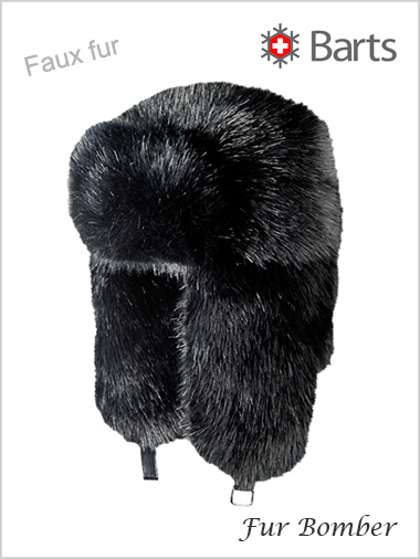 Fur Bomber - faux fur black