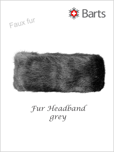 Faux Fur Headband - grey
