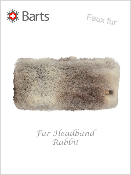 Faux Fur Headband - faux fur rabbit