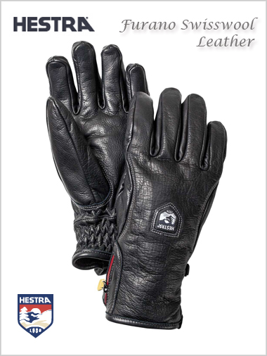 Furano Swisswool Leather gloves - black