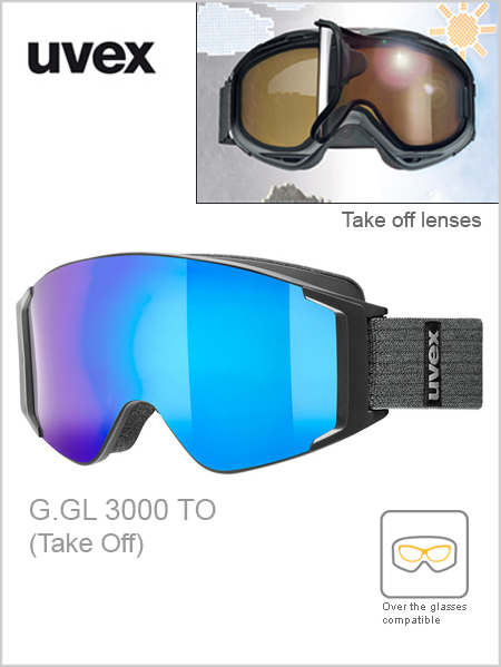 G.GL 3000 TO ski goggles - black (blue mirror take off)