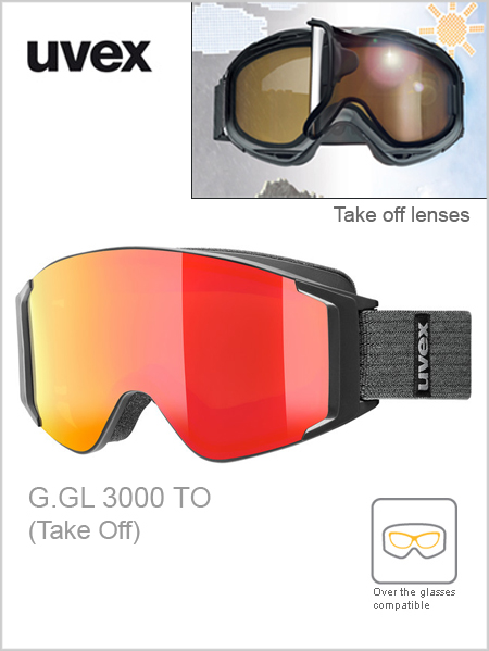 G.GL 3000 TO ski goggles - black (red mirror take off)