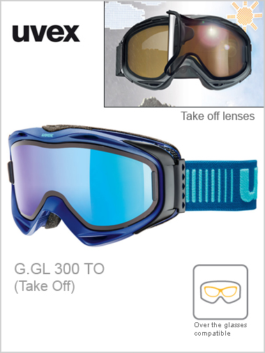 G. GL 300 TO ski goggles - navy , blue mirror take off