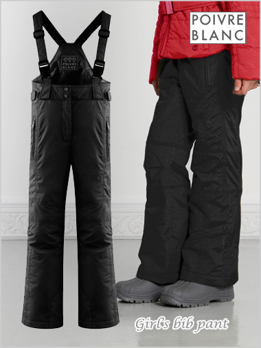 Age 8-16: Junior girl's bib pant (black)