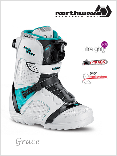 Womens - Grace snowboard boots - white / green