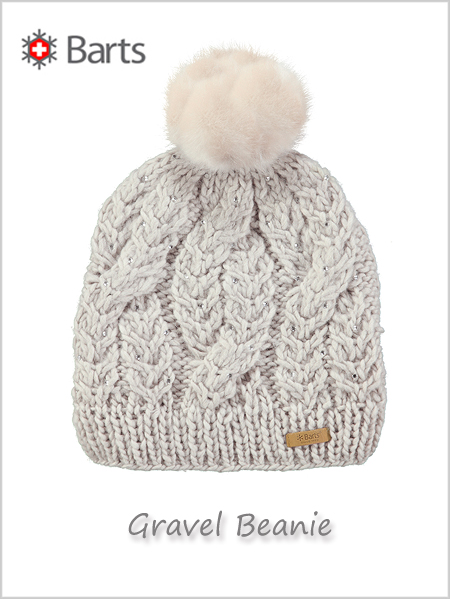 Gravel beanie (with rhinestones) - oyster