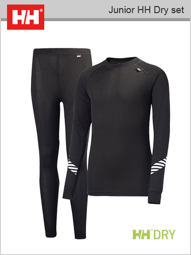 Junior HH DRY set (Lifa thermal underwear) - Black