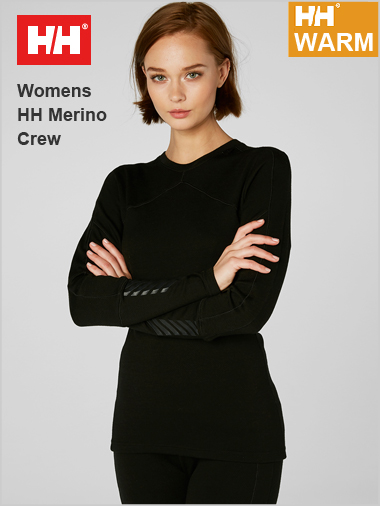 NEW HH Womens Lifa Merino crew top