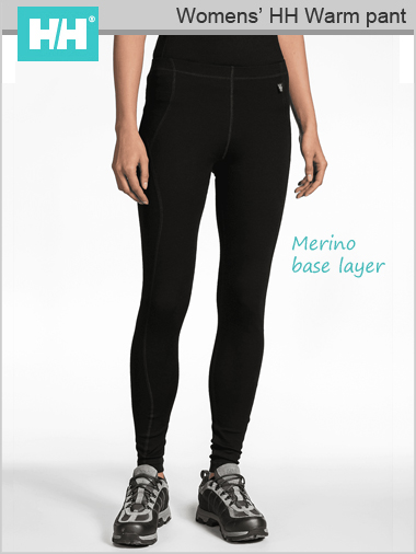 HH W Warm pant (Merino base layer) - Black