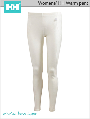 HH W Warm pant (Merino base layer) - White (only L now left)