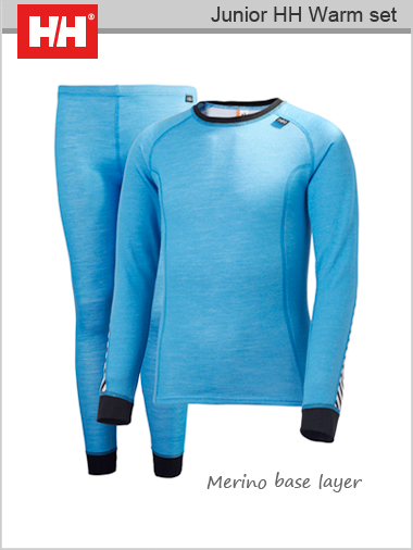 Junior HH Warm set (Merino base layer) - Blue