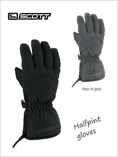 Child: Halfpint gloves - black or grey  (age 3-4)
