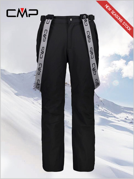 Hayes stretch ski salopettes - black (short, long & reg)
