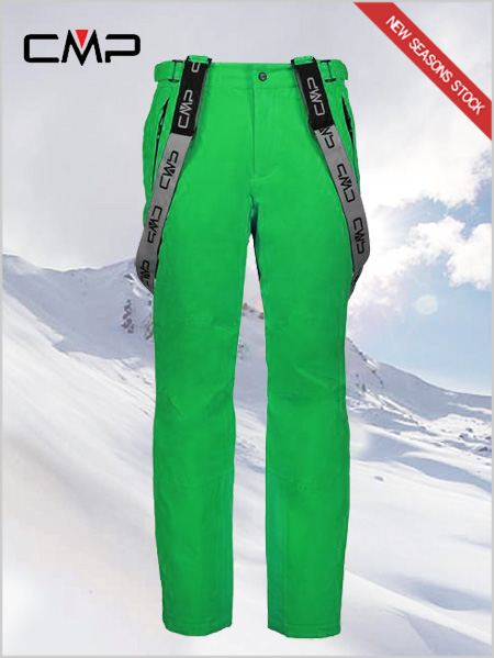 Hayes stretch ski salopettes - green