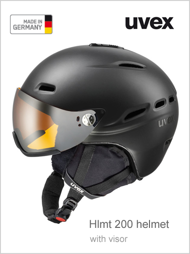 Hlmt 200 helmet with visor - black