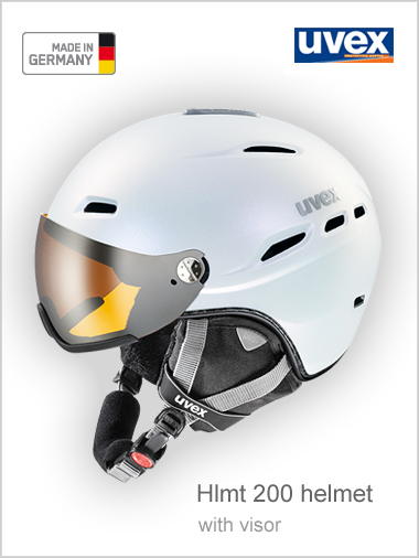 Hlmt 200 helmet with visor - white