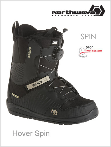 Hover Spin mens snowboard boot - black