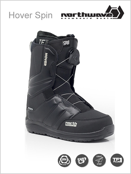 Hover Spin mens snowboard boot - black2