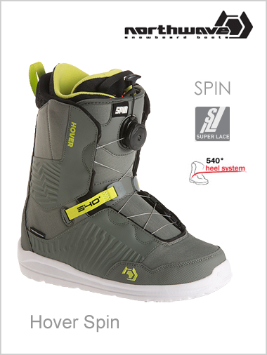 Hover Spin mens snowboard boot - grey
