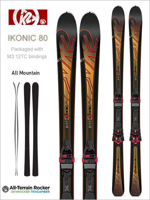 iKonic 80 skis and Marker M3 12 TC binding