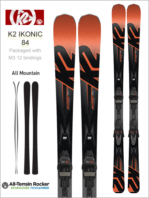 iKonic 84 skis and Marker M3 12 TCX binding