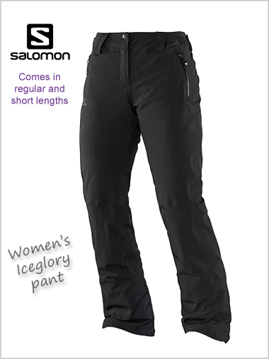 Clean and Classic Women's Salomon Iceglory Pant W Methyl