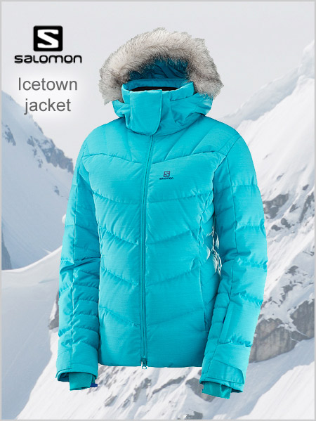 Icetown Down Jacket (Bluebird heather) - womens