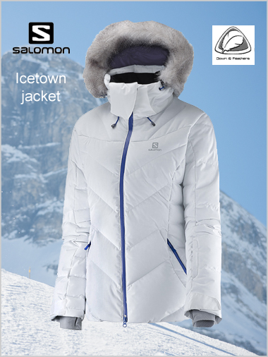 Icetown Down Jacket (White) - womens
