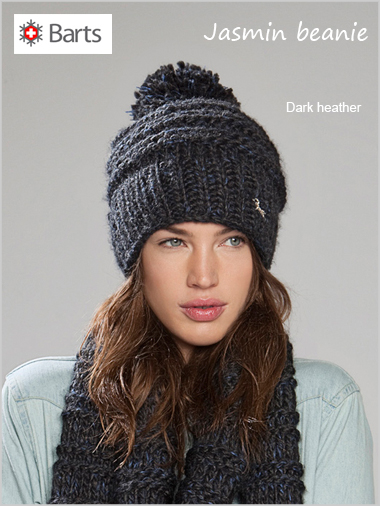 Jasmin beanie - dark heather