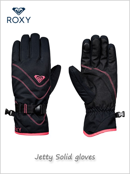 Jetty Solid gloves - True black