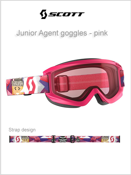 Junior Agent goggles (age 4 - 8) - pink