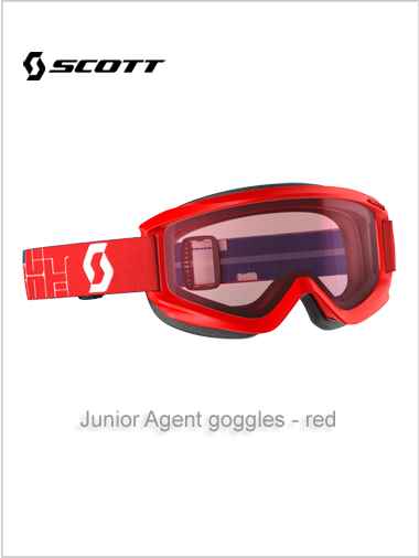 Junior Agent goggles (age 4 - 8) - red