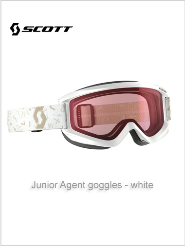 Junior Agent goggles (age 4 - 8) - white