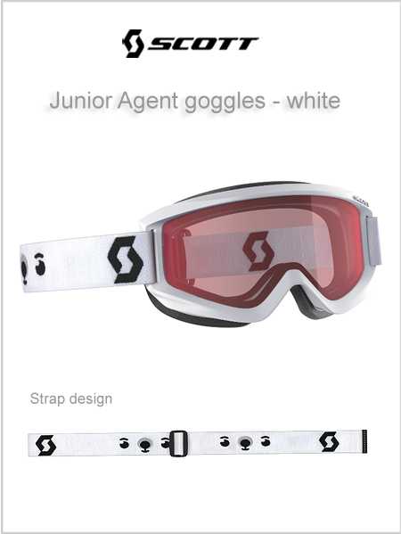 Junior Agent goggles (age 4 - 8) - white NEW