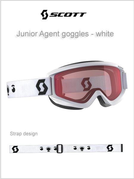 8b7d075156c8 Junior Agent goggles (age 4 - 8) - white NEW