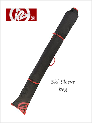 K2 Ski Sleeve ski bag - black / red