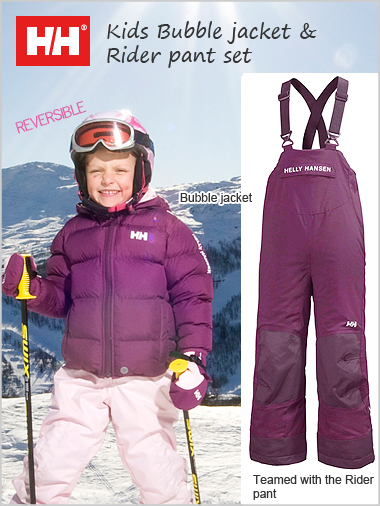 Age 4: Kids Bubble jacket and pant set - Deep Violet