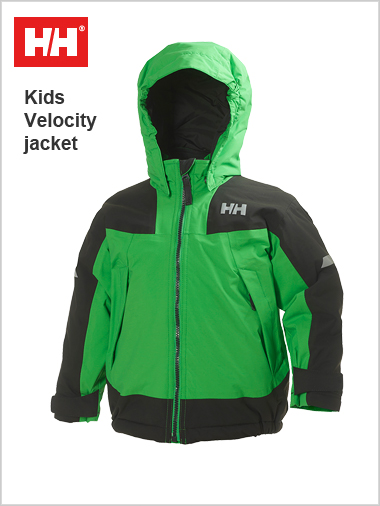 Age 4-6: Kids Velocity jacket - Paris green