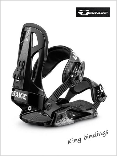 King (black) - mens snowboard bindings