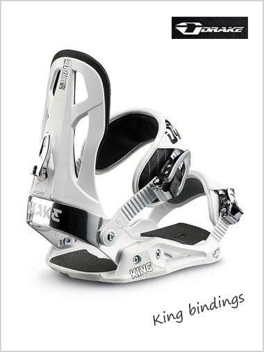 King (white) - mens snowboard bindings