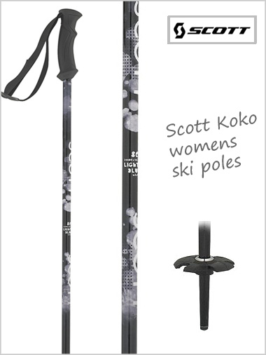 Womens ski poles - Koko (black)