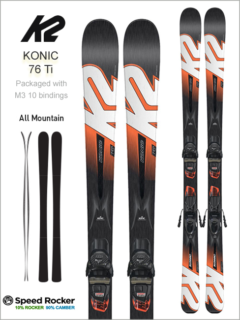 Konic 76 Ti skis and Marker M3 10 binding